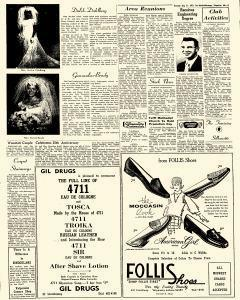 Old newspaper page with an advertisement for Gil Drugs