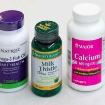 Fish oil, milk thistle, and calcium