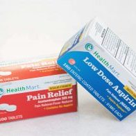 Photograph of over-the-counter pain relievers