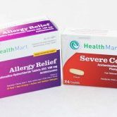 Photograph of allergy medicine and cold medicine